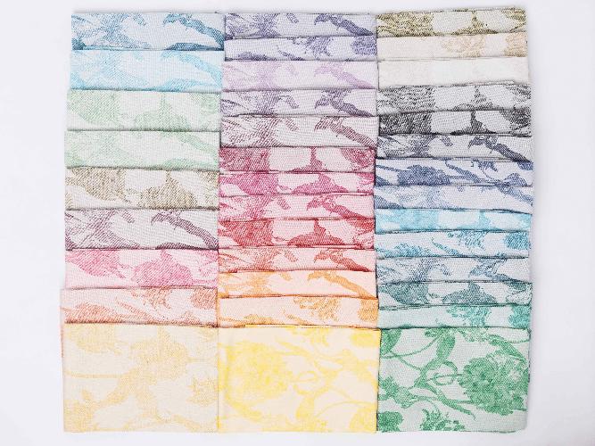 Jacquard woven teatowels linnen cotton