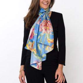 blauwe sjaal JB