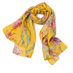 knoop gele sjaal
